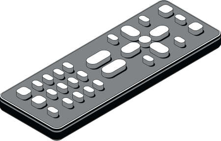 Isometric diagram of a basic television remote control.