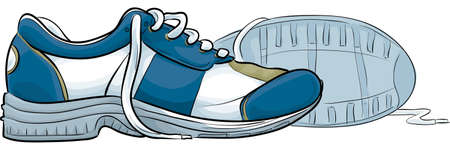 A pair of cartoon running shoes. Banco de Imagens - 29637080