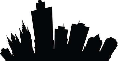 lake district: Cartoon skyline silhouette of the city of Salt Lake City, Utah, USA.