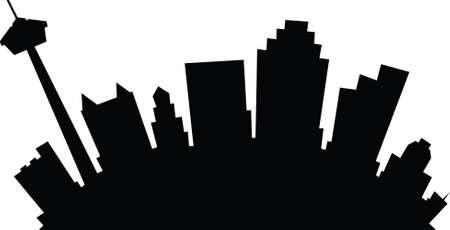 Cartoon Skyline Silhouette der Stadt San Antonio, Texas, USA. Illustration