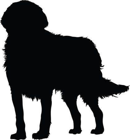 cartoon dog: A silhouette of a dog.