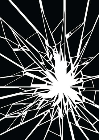 broken glass: A shattered design element.