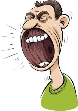 巨大な叫び口漫画口。 写真素材 - 29642797