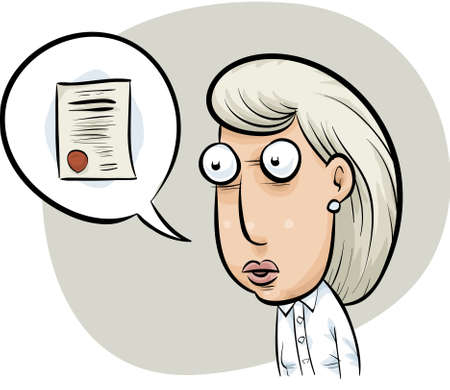 delivers: A woman delivers expert testimony relating to an official document.