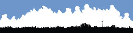 toronto: Skyline silhouette of Toronto, Ontario, Canada. Illustration