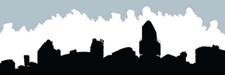 Skyline silhouette of Yonge and Dundas Square in Toronto, Ontario, Canada. Vector
