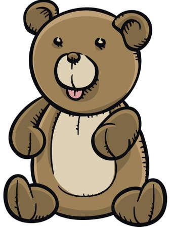 A cartoon teddy bear stuffed animal.