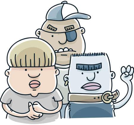 malandros: Un grupo de jóvenes, los matones de dibujos animados en busca de problemas.