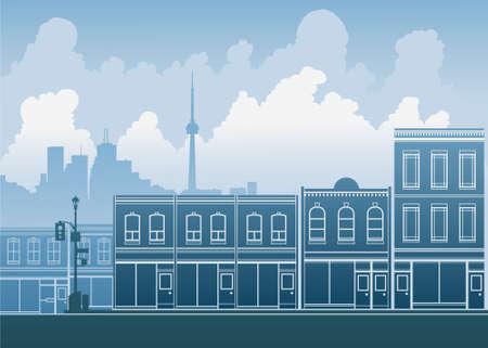 Scene of a Toronto city street.