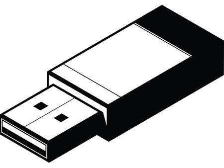 storage device: An illustrated diagram of a simple UBS key.