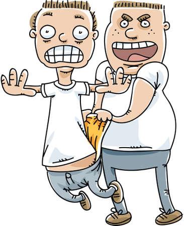 bully: Un mat�n saca un wedgie en una v�ctima inocente. Vectores