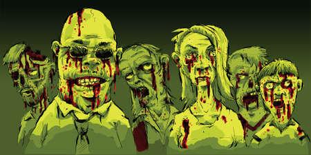 gory: Un gruppo di cruenti, zombie sanguinari in cerca di preda.