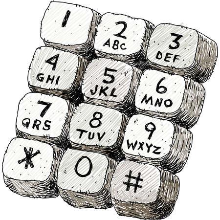 A cartoon illustration of a touch tone keypad.