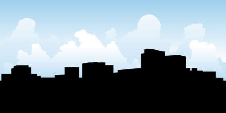 ontario: Skyline silhouette of the city of Kanata, Ontario, Canada. Illustration