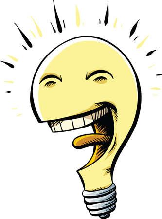 bliss: A happy, cartoon lightbulb with a big, friendly smile.