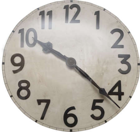 Antique clock-face dial isolated photo