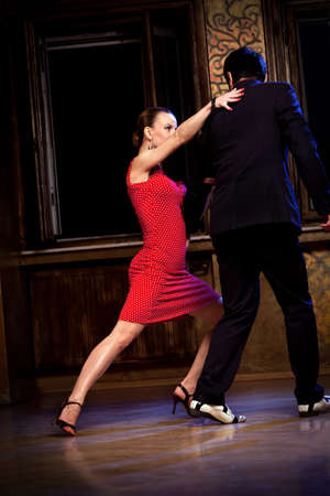 argentina dance: A man and a woman in the most romantic dance: tango. Please see more images from the same shoot. Stock Photo