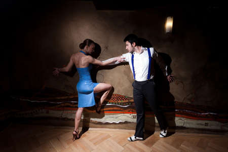 argentina dance: Beautiful dancers performing an argentinian tango. Please check similar images from my portfolio.