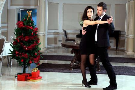 A man and a woman dancing tango.  photo