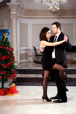A man and a woman dancing tango.  photo
