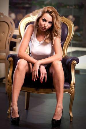 Beautiful blond in a black tutu dress Stock Photo - 12538061