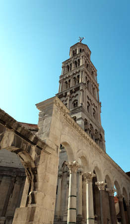 Diocletian palace ruins and cathedral bell tower, Split, Croatia  Stock Photo - 12790020