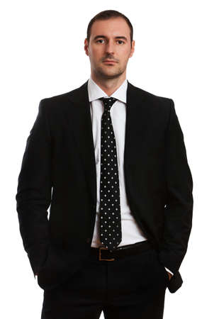 Young attractive business man in formal suit