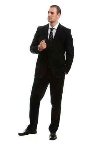 Handsome bussinessman in a classic suit Studio shot