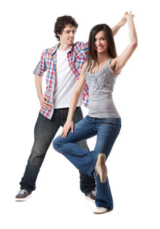Social dance West Coast Swing  Demonstration of a spin pose