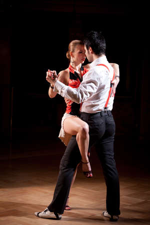 Beautiful dancers performing an argentinian tango dance Zdjęcie Seryjne