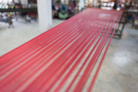 View of many silk wire stack in a Thailand factory.