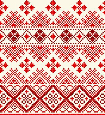 red cross stich pattern seamless