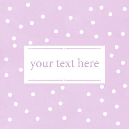 light purple text background with dots