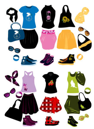 Fashion elements for women  Vector
