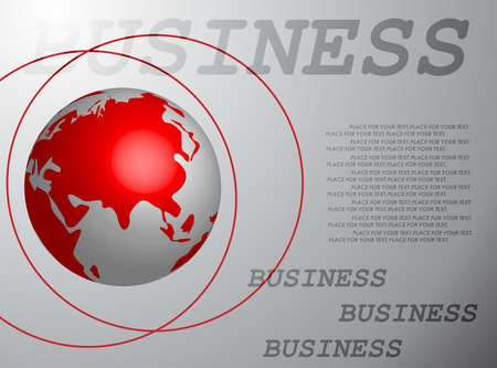 asia globe: Business globe