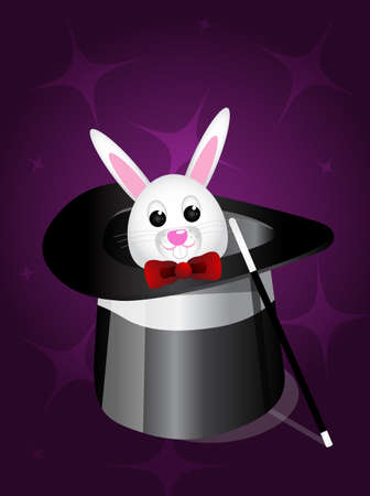 Magic hat and rabbit  Stock Vector - 25057415
