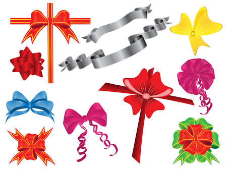 Set of different ribbons