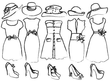 Drafts of womens clothing