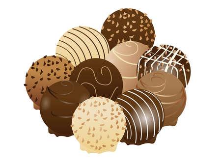 Sweet chocolate  Illustration