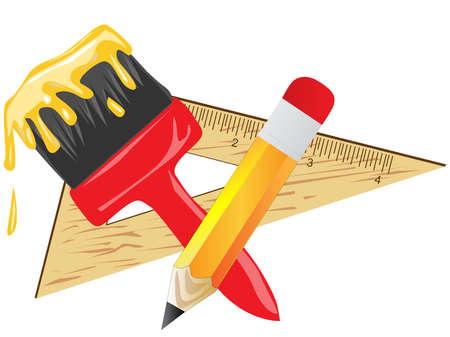 Art equipment vector illustrations  Illustration