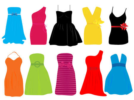 Summer dresses for women  Vector