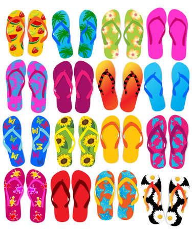 summer clothes: Flip flops Illustration