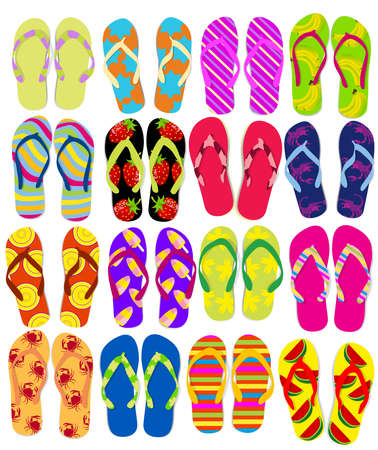 to flop: Flip flops Illustration