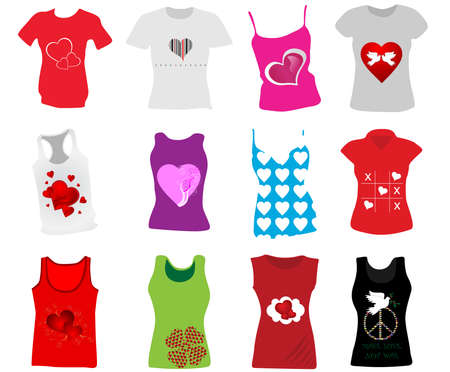 Women T-shirts Vector