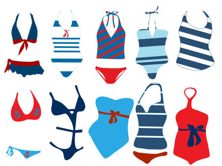 Different swimsuit  Vector