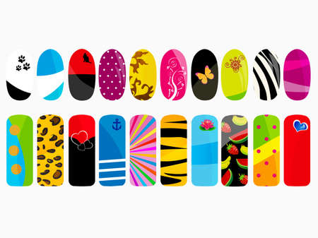 Nail designs  Illustration