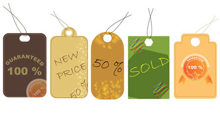 Vector illustration of price tag  Illustration