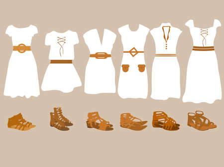 Summer clothes for women  Illustration