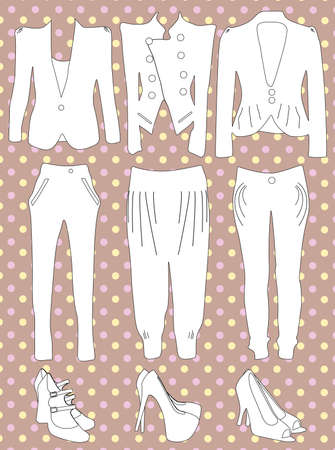 Retro clothes for woman  Illustration