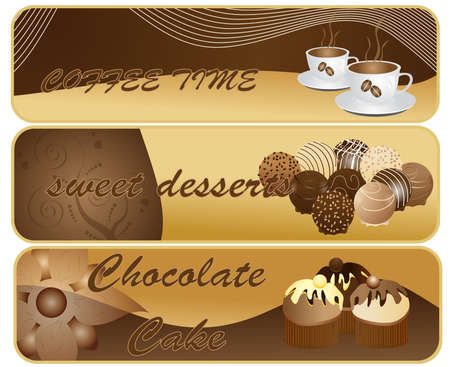 Abstract chocolate banners